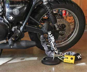 Cadena antirrobo para motos custom