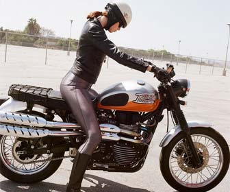 Chaquetas de cuero para mujer para motos Custom