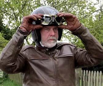 Gafas de Aviador para casco de moto custom