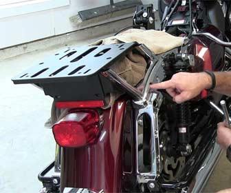 Instalación del Baúl para motos custom