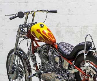Manillar Barra con Torretas para moto custom