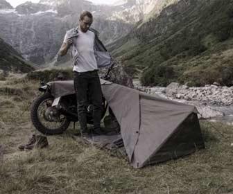 Tienda de campaña pequeña para moto custom